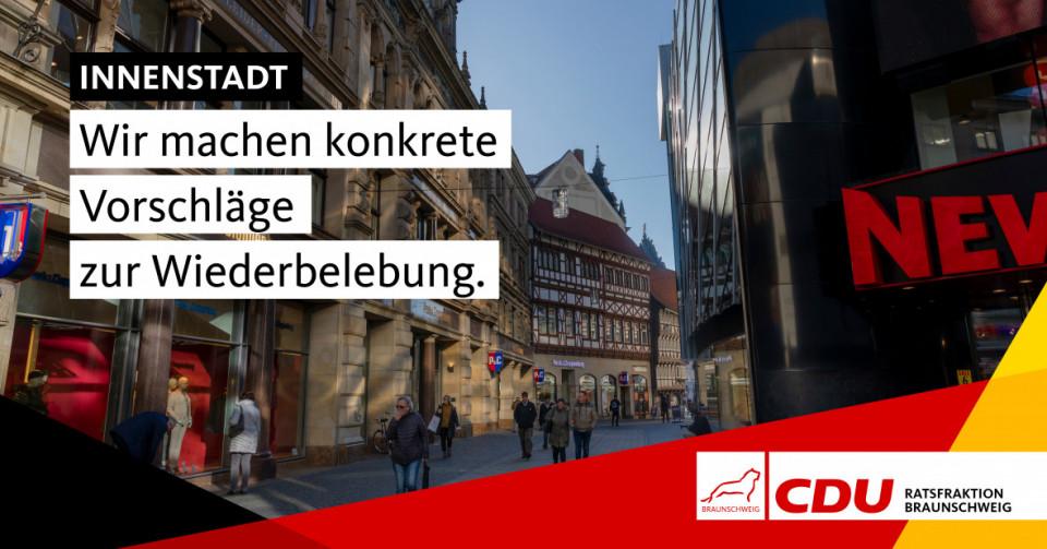 Wir fordern ein umfassendes und zügig umzusetzendes kommunales Handlungskonzept zur Wiederbelebung der Innenstadt.